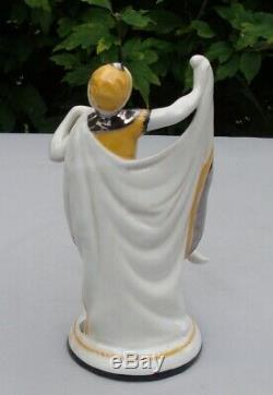 Art Nouveau Style Figurine Statue Dancer Art Deco Style Porcelain Enamels