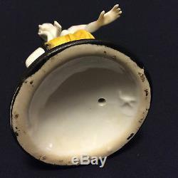 Art déco superbe figurine féminine en porcelaine cira 1920 signée