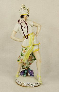 Augarten Austria Vienna Art Deco Porcelain Figurine Phantom Tilly Losch No. 1607