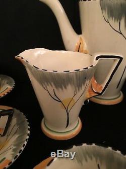 BURLEIGH WARE B & L Ltd. ART DECO ZENITH FULL TEASET DAWN PATTERN