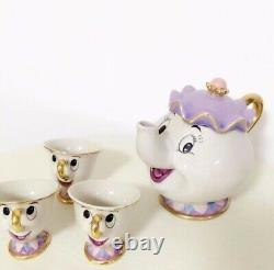 Beauty And The Beast Mugs Tea Pot Cup Set Porcelain Gift 18K Gold-plated Painted