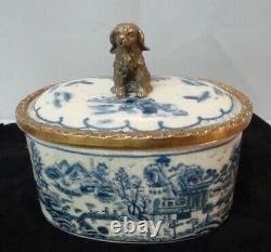 Boite Bijoux Figurine Chien Animalier Style Art Deco Style Art Nouveau Porcelain