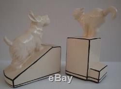 Bookends Dog Cat Wildlife Art Deco Style Art Nouveau Style Porcelain Figurine