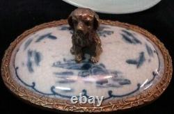 Box Figurine Dog Wildlife Art Deco Style Art Nouveau Style Porcelain Bronze Jewe