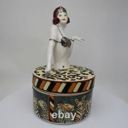 Box Figurine Mata Hari Bathing Beauty Sexy Art Deco-German Style Art Nouveau Sty