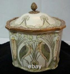 Box Marabou Bird Art Deco Style Art Nouveau Style Porcelain Bronze Ceramic Jewel