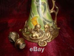 Bronze Porcelain Art Deco Style Art Nouveau Style Flower Pitcher Pitcher