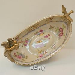 Centerpiece Bird Flower cherub Baby Art Deco Style Art Nouveau Style Porcelain B
