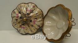 Centerpiece Box Flower Art Deco Style Art Nouveau Style Porcelain Bronze