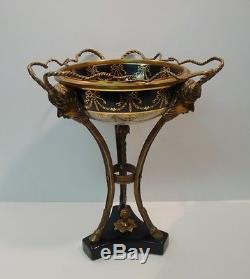 Centerpiece Fruit plate Art Deco Style Art Nouveau Style Porcelain Bronze