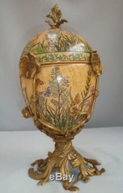 Centerpiece Urn Flower Art Deco Style Art Nouveau Style Porcelain Bronze