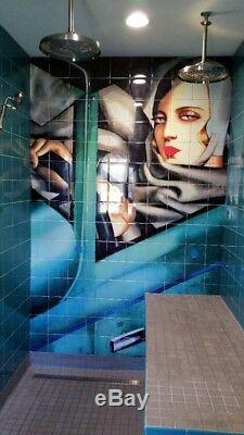 Ceramic Mural Backsplash Art Deco Automobile Tile #47