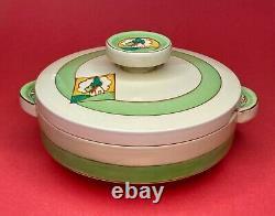 Clarice Cliff Bizarre Art Deco VTG c1930 Newport Pottery 8 Covered Dish Ltd Ed