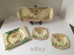 Clarice Cliff Hand Painted Pottery In AUREA Pattern