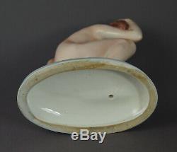 Czech Art Deco / Nude Girl porcelain figurine ca. 1930 (# 12431)