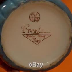 ETLING Boite à poudre Art Deco en porcelaine danseuse orientale Porcelain box