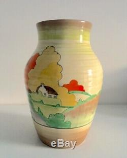 EXCEPTIONAL VINT Clarice Cliff ISIS Vase Jug LORNA Pattern Bizarre England 10