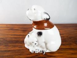 Edouard-Marcel Sandoz Signed Dogs Theo Haviland Limoges Art Deco Porcelain Box