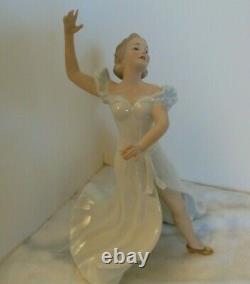Elegant Vintage Wallendorf 1764 Art Deco Dancer Porcelain Figurine Germany #1488