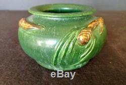 Ephraim Pottery Faience Pottery Green Pinecone Vase Laura Klein Retired Shape