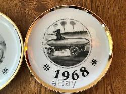 FOUR Fornasetti 1967-1970 Salone Internationale Automobille Torino Set of 4 RARE