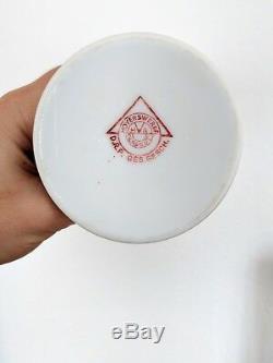 Fantastic ceramic Hoyerswerda Glasgut spritzdekor Vase Bauhaus 1920s art deco