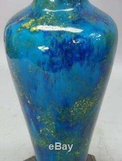 Fine Antique FRENCH Paul Milet Sevres Flambe Glazed Porcelain Vase Lamp c. 1910s