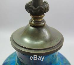 Fine Antique FRENCH Paul Milet Sevres Flambe Glazed Porcelain Vase Lamp c. 1930s