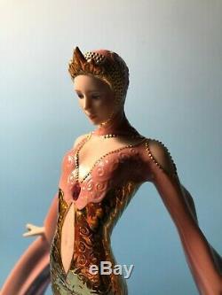 Franklin Mint Daybreak in Gold Art Deco Fine Porcelain Statue Figurine 24k GP