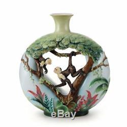 Franz Porcelain Vase Monkey Mischief