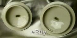 French Antique St Amand Coffee Tea Set Porcelain 12 Cups Saucers Vintage Plates