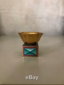 GIO PONTI for RICHARD GINORI GILDED SALT CELLAR