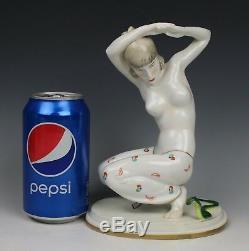 Galluba & Hofmann Art deco Figurine Dancer with Snake WorldWide