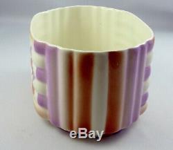 German Art Deco Bauhaus Era ceramic cookie jar biscuit box 1930s geometricdesign