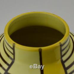 German Bauhaus Era Schramberg MONDRIAN Pottery Vase Eva Zeisel Art Deco