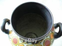 Gouda art deco pottery vase Henley pattern Holland ca 1923