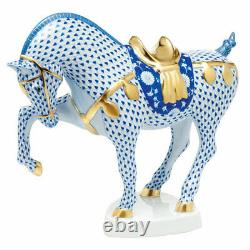 HEREND Hungary Porcelain TANG HORSE 5347VHSP25 FISHNET Brand New Limited Edition
