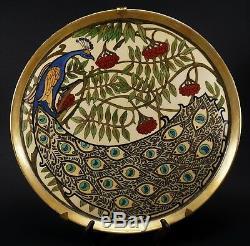 HUGE Art Deco T&V Tressemanns Vogt Limoges Hand Painted Porcelain Wall Charger