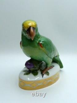 HUTSCHENREUTHER Art Deco Porzellan Figur Papagei Fritz Klee Porcelaine Parrot