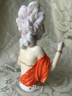 Half-doll/demi-figurine/buste Porcelaine/teepuppe/flapper/fasold/art Deco