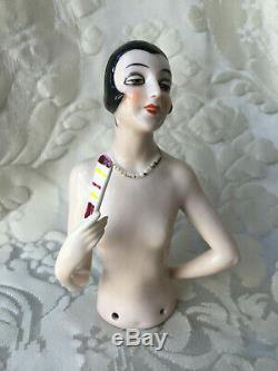 Half-doll/demi-figurine/buste Porcelaine/teepuppe/pincushion Doll/art Deco