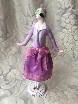Half-doll/demi-figurine/buste Porcelaine/teepuppe/pincushion Doll/art Deco/