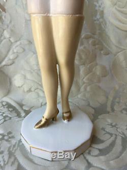 Half-doll/figurine Porcelaine/erotic/bathing Beauty/flapper/fasold/art Deco