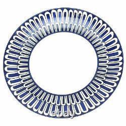 Hermes Bleus D'ailleurs Pair Of Dessert Plates (set Of 2) #p030007p Brand Nib Fs