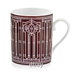 Hermes H Deco Red Mug No. 2 #p041131p Brand Nib French Porcelain Save$$ F/sh