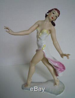 Hutschenreuther Art Deco Porzellan Figur Spanische Tänzerin PORCELAIN FIGURINE