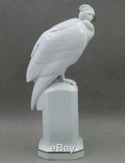 Hutschenreuther Porcelain Large 12 ½ Art Deco Bird Figurine on Stand
