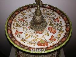 Important Centerpiece French 1900 bronze porcelain Etagère Art Nouveau Deco