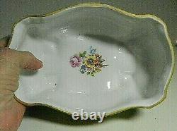 J L MENAU Echt Kobalt Blue Footed Lg. Trinket Dish with Lid-Von Henneberg-9876/1