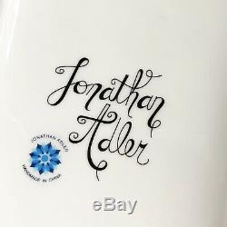 Jonathan Adler Art Pottery Modernist Topiary Long Trinket Box